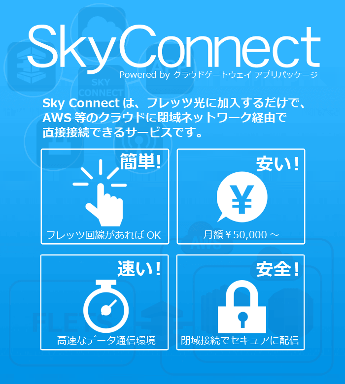 Sky Connect AWS にdirectconnect