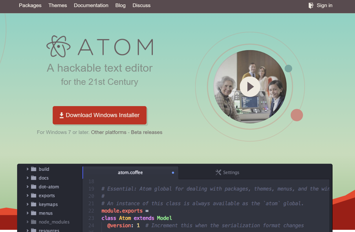 atom top page