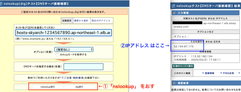 nslookup for web